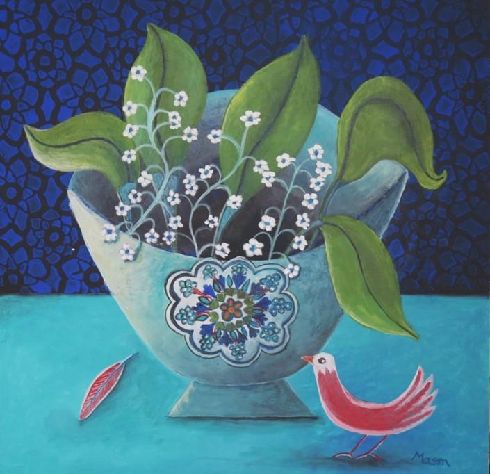 Susanne Mason,cheer (acrylics on canvas 50 x 50cm)