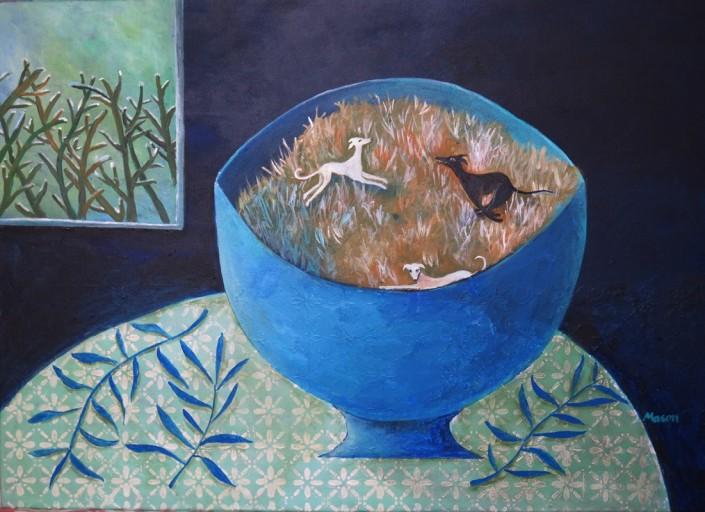 Susanne Mason,dashing (acrylics on canvas 70 x 50cm)