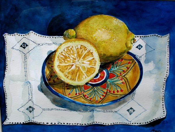 Susanne Mason,lemons (SOLD watercolours on paper)