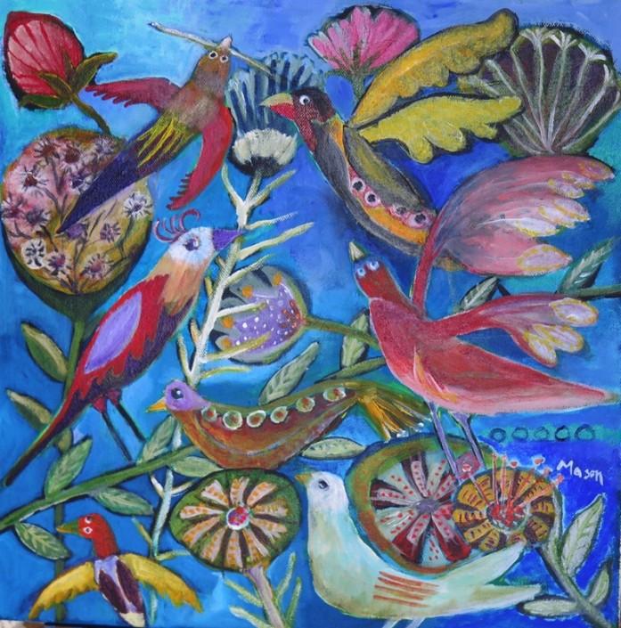 Susanne Mason, labyrinth (acrylics on canvas 40 x 40cm)