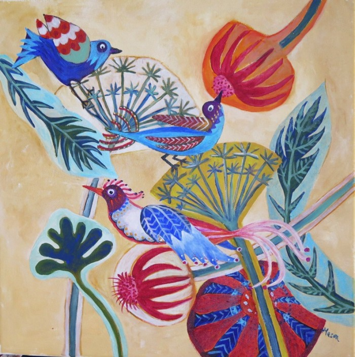 Susanne Mason, haze breaks (acrylics on canvas 40 x 40cm)