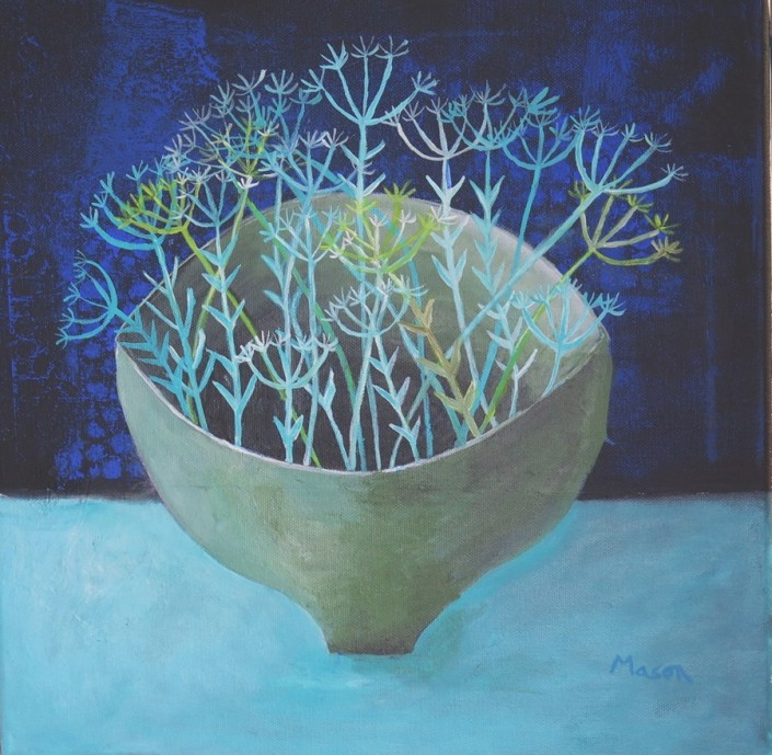 Susanne Mason, winter dream (acrylics on canvas 40 x 40cm)