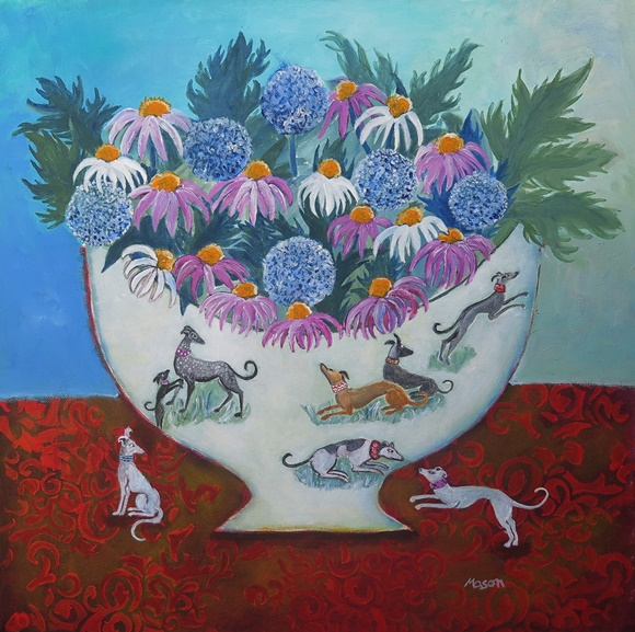 Susanne Mason, a treat in store (acrylics on canvas, 50x50 cm)