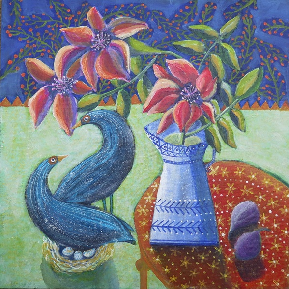 Susanne Mason, - serenade (acrylics on canvas, 40x40cm)