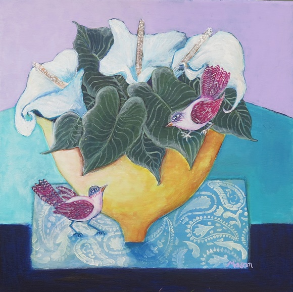 Susanne Mason, fantasy, acrylics on canvas 40x40cm