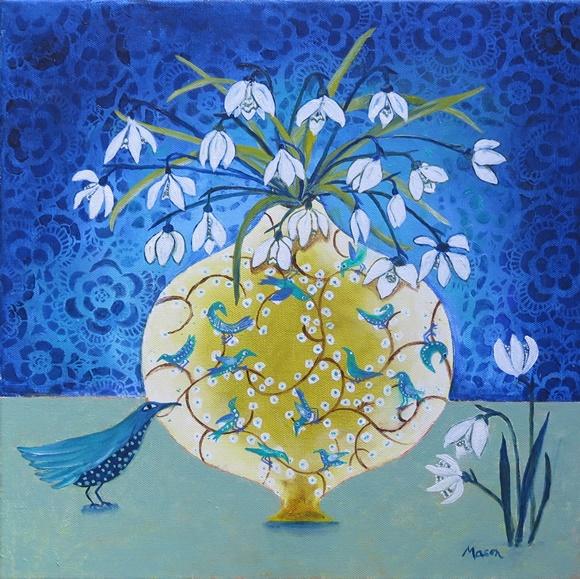 Susanne Mason, song of joy (acrylics on canvas, 40x40cm)