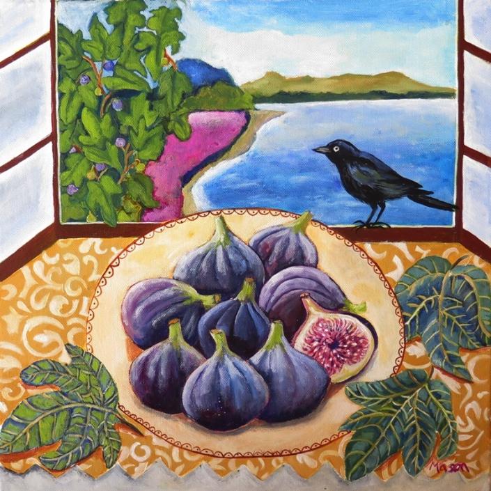 Blue Figs, stillife by Susanne Mason