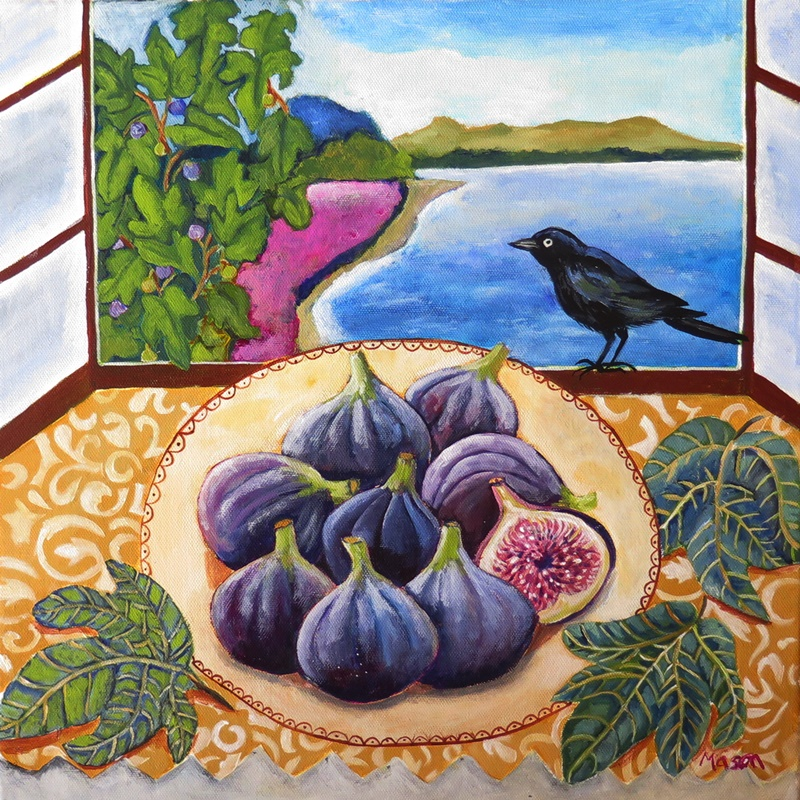 Blue Figs, stillife by Susanne Mason