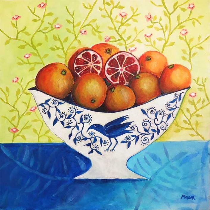blood oranges, still life by Susanne Mason