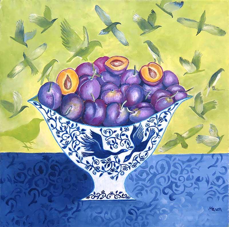 plums, still life by Susanne Mason