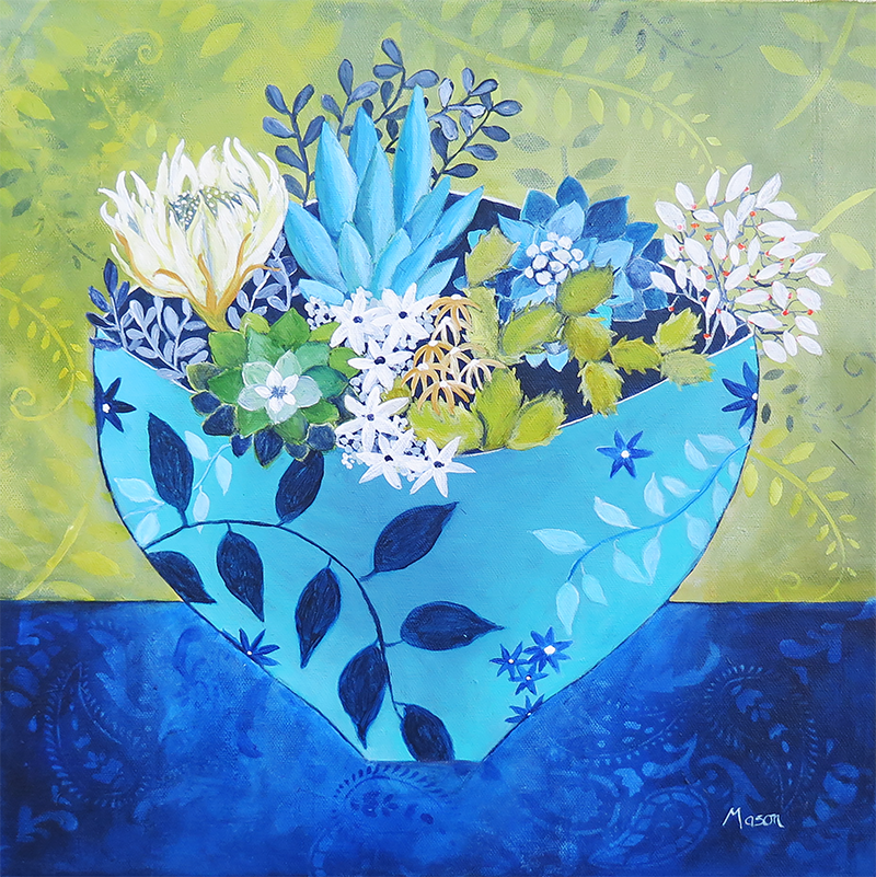 Desert Bloom, by Susanne Mason (acrylics on canvas 40x40cm)